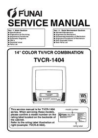Service Manual Funai TVCR-D1404