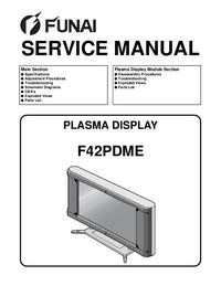 Руководство по техническому обслуживанию Funai F42PDME
