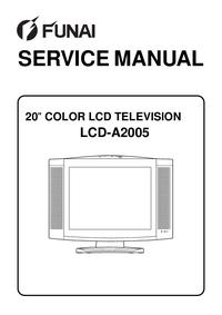 Service Manual Funai LCD-A2005