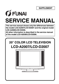 Service Manual Supplement Funai LCD-A2007