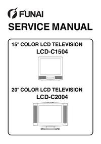 Servicehandboek Funai LCD-C2004