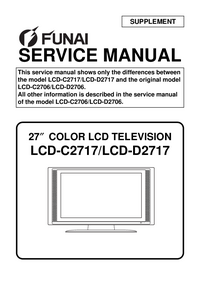 Service Manual Supplement Funai LCD-D2717
