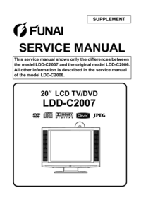 Service Manual Supplement Funai LDD-C2007