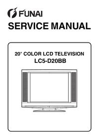 Manuale di servizio Funai LC5-D20BB