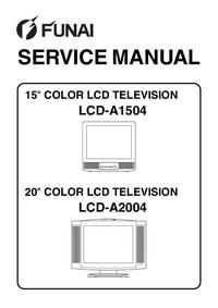 Manuale di servizio Funai LCD-A1504