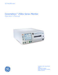 Manual do Usuário GEHealthcare Corometrics 250cx Series
