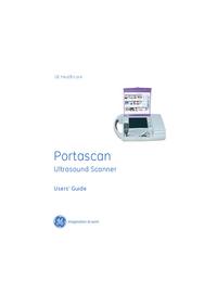 Gebruikershandleiding GEHealthcare Portascan