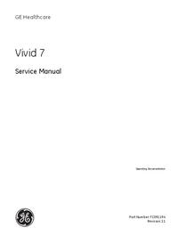 Руководство по техническому обслуживанию GEHealthcare Vivid 7 Pro