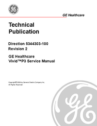 Manual de servicio GEHealthcare Vivid™ P3