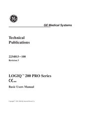 Manual del usuario GEMedical LOGIQ™ 200 Pro Series