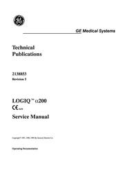 manuel de réparation GEMedical LOGIQ™ α200