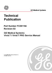 manuel de réparation GEMedical Vivid 7 PRO