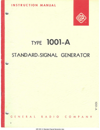 Service and User Manual GR 1001-A