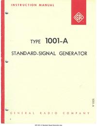 Servicio y Manual del usuario GR 1001-A