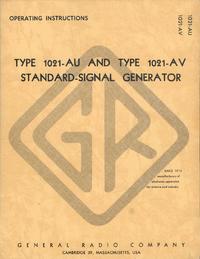 Bedienungsanleitung GR 1021-AV