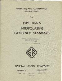 Manual de serviço GR 1110-A