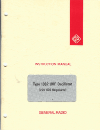 Service and User Manual GR 1362