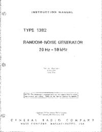 Serviço e Manual do Usuário GR 1382
