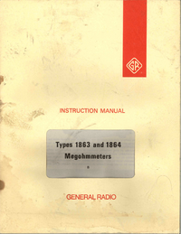 Service and User Manual GR 1864