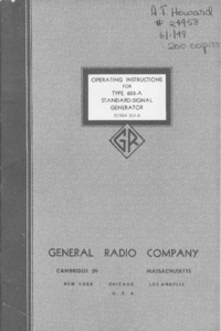 Service- und Bedienungsanleitung GR 603-A