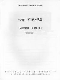 Service-en gebruikershandleiding GR 716-P4