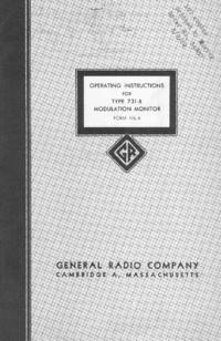 Servicio y Manual del usuario GR 731-B