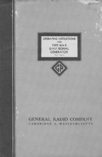 Service et Manuel de l'utilisateur GR 804-B