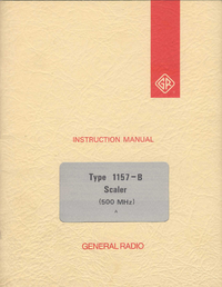 Servicio y Manual del usuario GR 1157-B