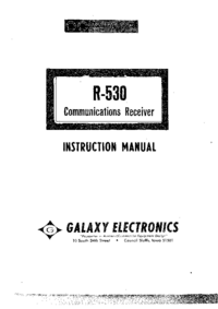 Service and User Manual Galaxy R-530