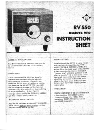 Service and User Manual Galaxy RV550