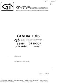 Servicio y Manual del usuario Giga GR1100A
