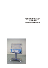 User Manual Ginevri OGB Polycare 3