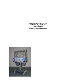 Gebruikershandleiding Ginevri OGB Polycare 4
