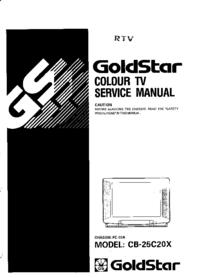 Service Manual Goldstar PC-33A