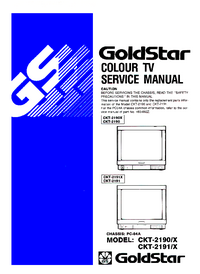 Manual de servicio Goldstar CKT-2191