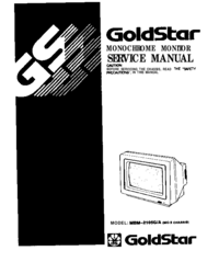 Manual de servicio Goldstar MBM-2105 G