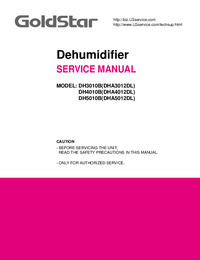 Service Manual Goldstar DH4010B(DHA4012DL)