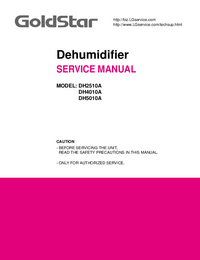 Manual de servicio Goldstar DH5010A