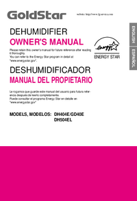 User Manual Goldstar DH504EL
