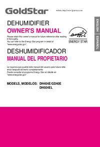 User Manual Goldstar DH404E