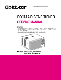 Service Manual Goldstar BG8000ER