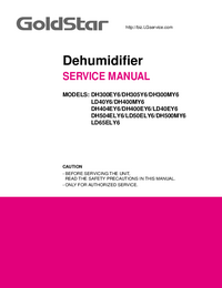 Manual de servicio Goldstar DH400EY6