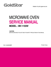 Service Manual Goldstar MV-1155W