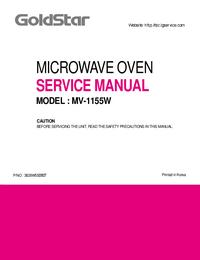Manuale di servizio Goldstar MV-1155W