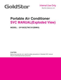 Manuale di servizio Goldstar GP100CE(TWC101ZBMK0)