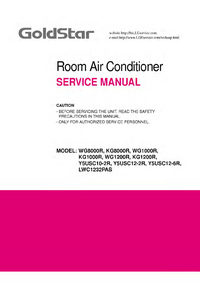 Service Manual Goldstar LWC1232PAS