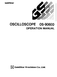 Servicio y Manual del usuario Goldstar OS-9060D