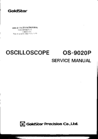 Manuale di servizio Goldstar OS-9020P
