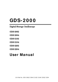 Manual del usuario GoodWill GDS-2062