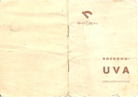 User Manual Gossen UVA